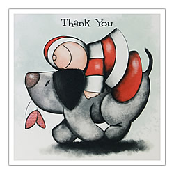 Thank You Card (Hugging Dog)