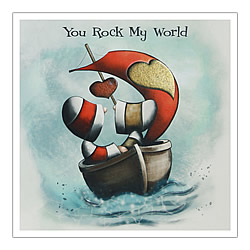 You Rock My World Card (Boat)